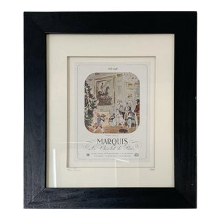 1948 French Figurative Poster, Framed For Sale