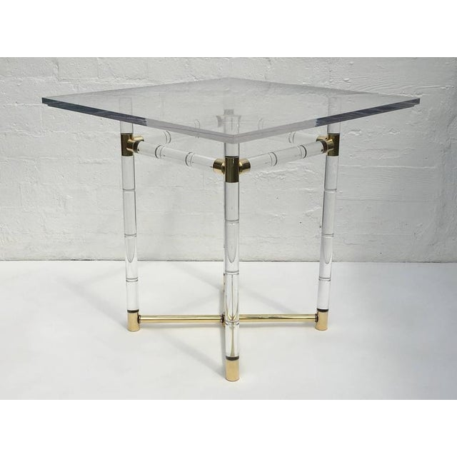 Polished Brass and Faux Bamboo Center Table by Charles Hollis Jones - Image 2 of 10
