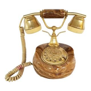 Vintage Italian Onyx Rotary Telephone