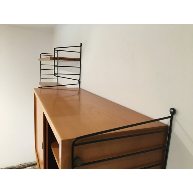 Brown String Shelves and Cabinet by Nisse Strinning For Sale - Image 8 of 11