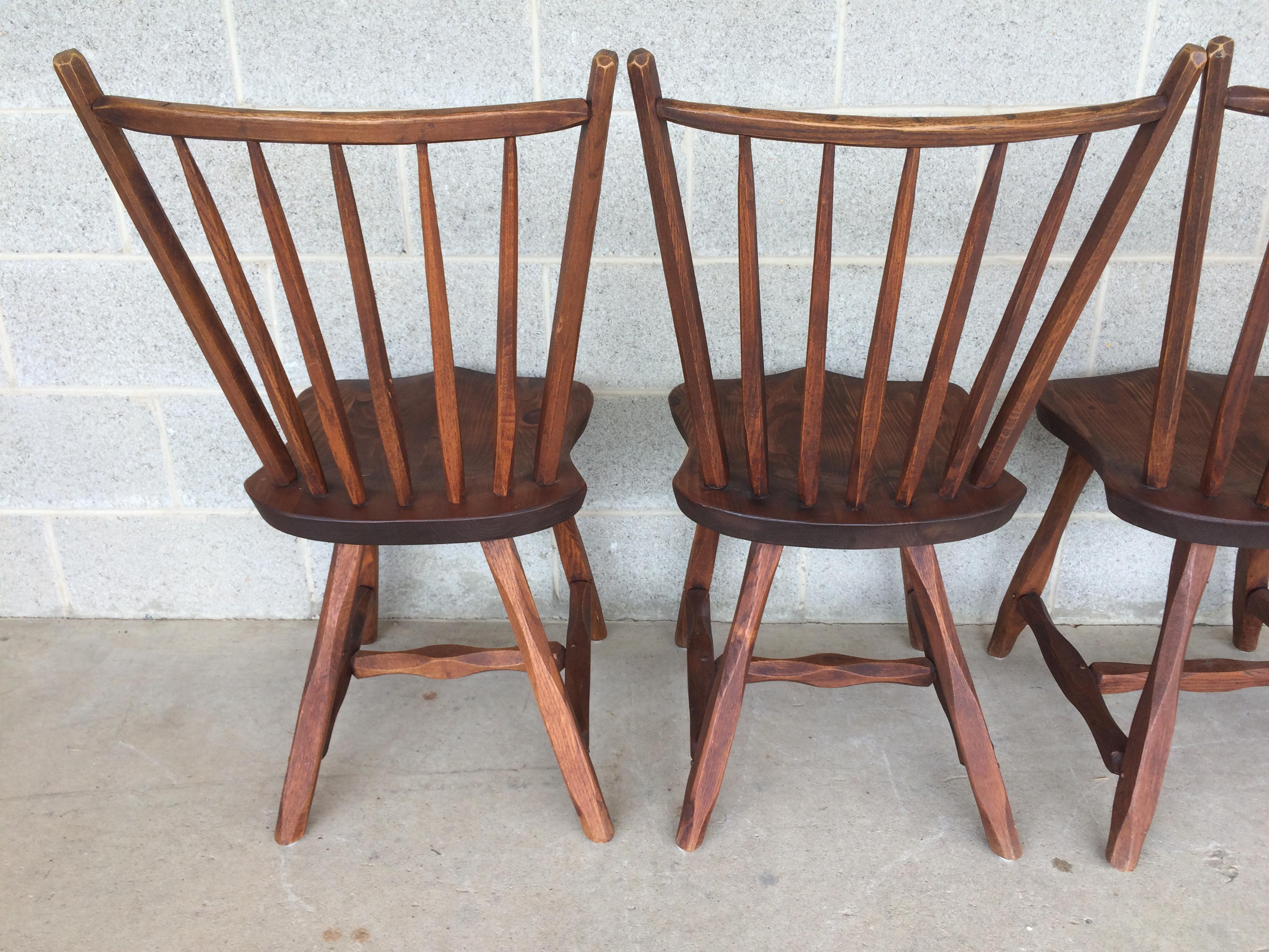 Hunt Country Furniture Oak Side Chairs   Set Of 4   Image 9 Of 11