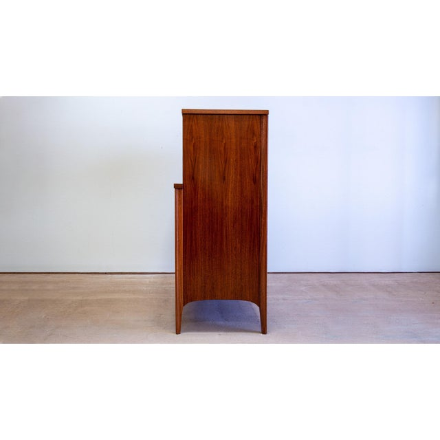Kent Coffey 1960s Walnut Highboy by Kent Coffey for Perspecta For Sale - Image 4 of 5