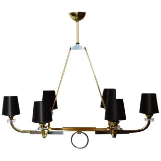 1960s Jacques Adnet 6-Light Chandelier For Sale