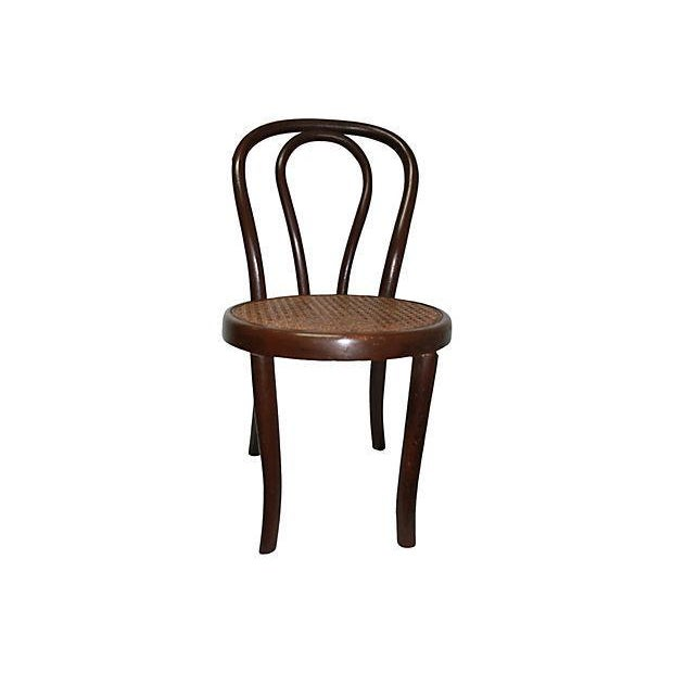 Children's Bentwood & Caning Child's Chair For Sale - Image 3 of 4