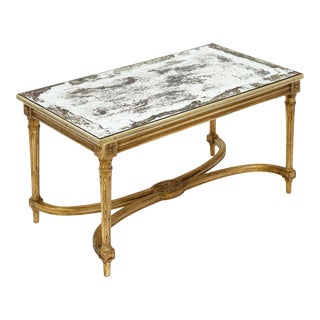 Louis XVI Style French Antique Coffee Table For Sale