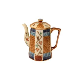 Late 19th Century Vintage Wedgewood Aesthetic Movement Majolica Tea Pot For Sale