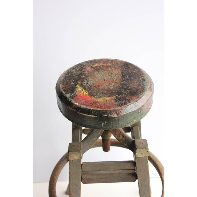 Antique Drafting Stool - Image 3 of 4
