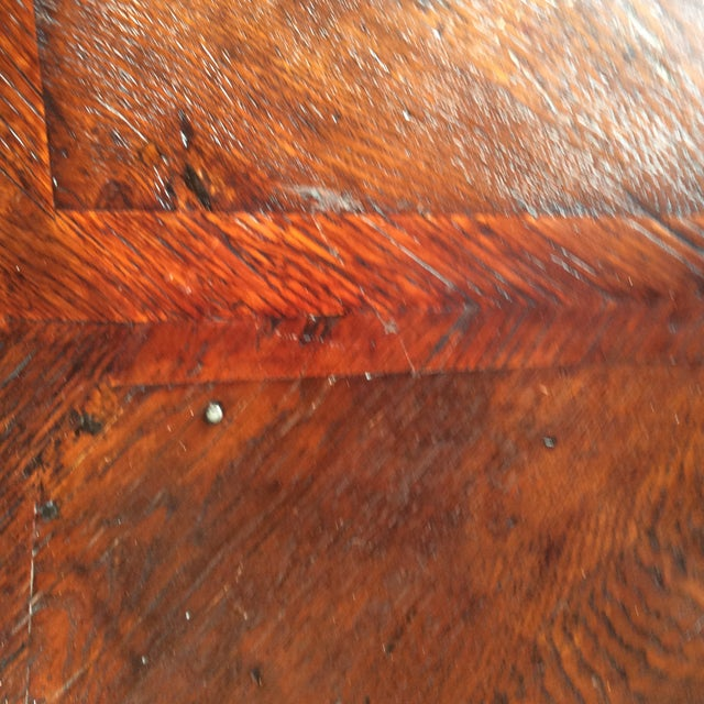 Wood Rustic Primitive Demilune Cabinet For Sale - Image 7 of 10