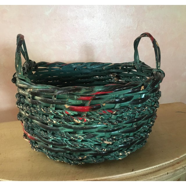 Painted Basket - Boho Chic - Image 3 of 4