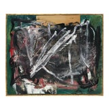 Image of Midcentury Abstract Mixed-Media Painting For Sale