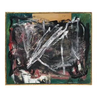 Midcentury Abstract Mixed-Media Painting For Sale