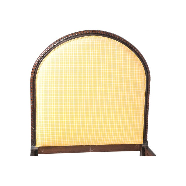 Wooden Belgian Bedframe With Yellow Headboard For Sale - Image 4 of 12