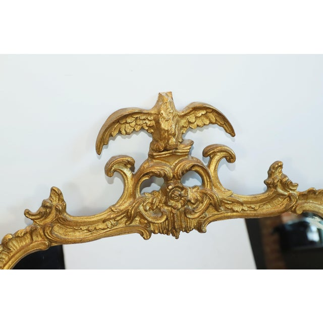 Antique Gilt Gesso Mirror From Waldorf Astoria Hotel New York City For Sale - Image 4 of 5