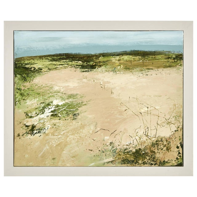 2010s An Abstract Landscape Oil Painting by Robert Eadie For Sale - Image 5 of 5