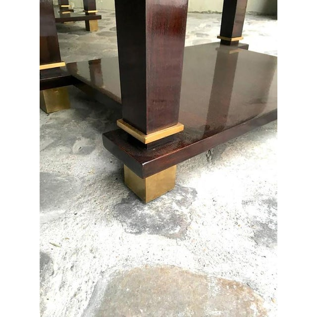 Jacques Adnet Exceptional Neoclassic Large President Desk With Leather Top For Sale - Image 6 of 7