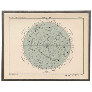 "Large Round Constellation Star Map 51 - 29.25"" x 23.25ʺ"