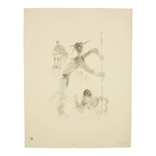 Limited Ed. Original Publisher Proof Jean Cocteau Lithograph, Hand-Numbered and Signed For Sale