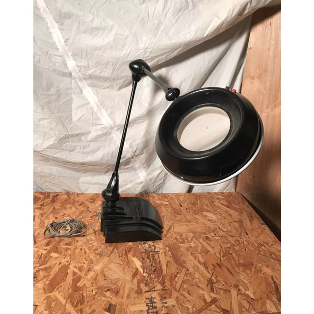 Vintage Industrial Flexo Drafting Magnifying Lamp For Sale - Image 4 of 5