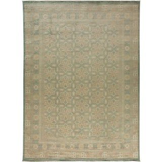 """Khotan Hand Knotted Area Rug - 8'10"""" X 12'1"""" For Sale"""