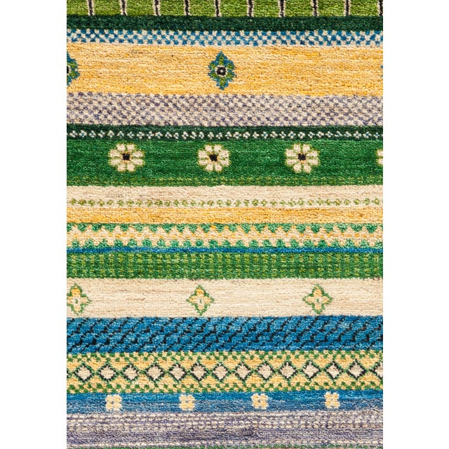 """Primitive Lori, Hand Knotted Area Rug - 4'2"""" X 6'2"""" For Sale - Image 3 of 3"""