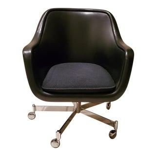 Ward Bennett Classic Black Office Desk Chair for Brickel Associates For Sale