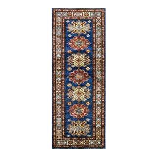Afghan Kazak Wool Rug- 2'x5'10'' For Sale
