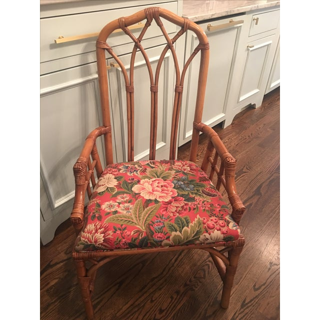 Henry Link Cathedral Rattan Chairs - Set of 4 - Image 5 of 5