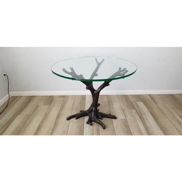 Vintage Sculptural Faux- Bois Bronze Dining Table . For Sale - Image 13 of 13