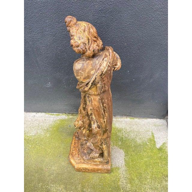 18th Century Italian Giltwood Figure For Sale - Image 4 of 13