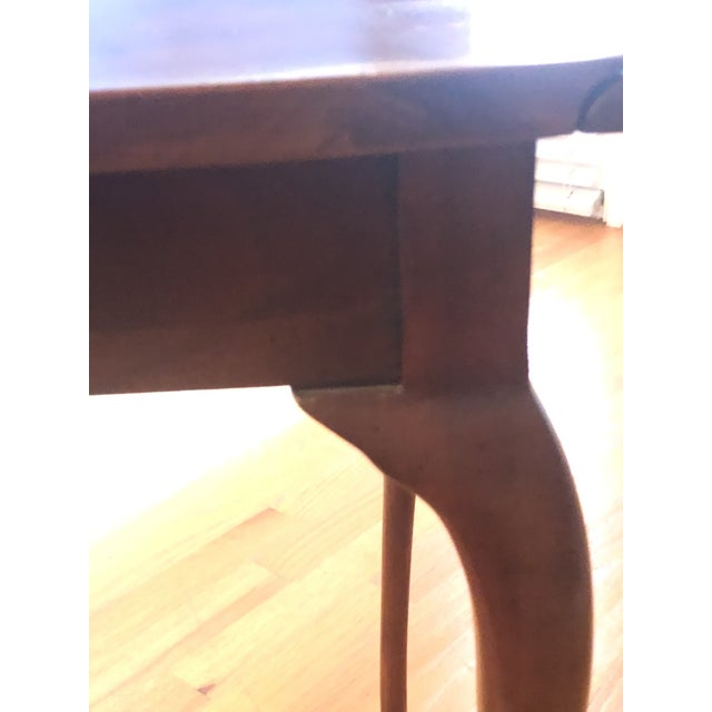 Baker Furniture Company Traditional Small Mahogany Baker Drop Leaf Table For Sale - Image 4 of 6