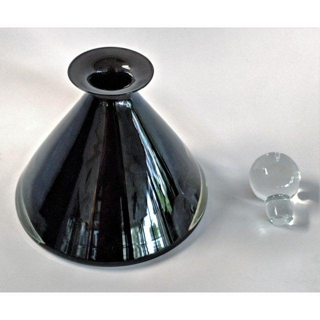 Glass 1980s Vintage Mario Pinzoni for Seguso Vetri d'Arte Glass Bottle For Sale - Image 7 of 13