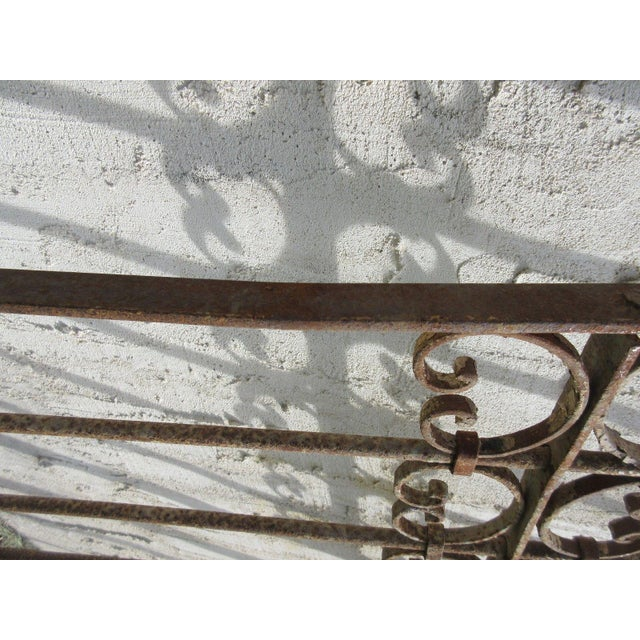 Metal Antique Victorian Iron Gate or Garden Fence For Sale - Image 7 of 7