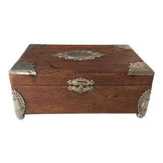 Silver Accents English Wooden Box