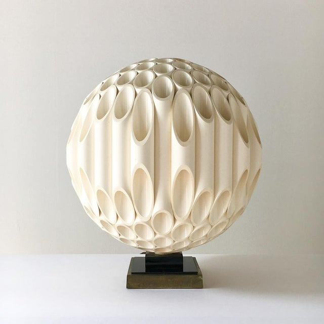 A Rare Spherical Shaped Sculptural Acrylic Table Lamp designed by Rougier Canada Late 1970s stamped As with all Rougier...