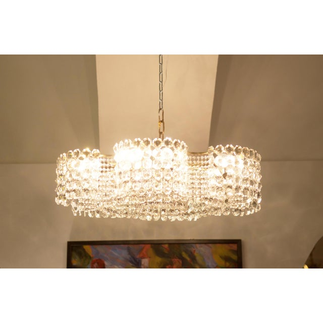 Large Chandelier of Cut Crystal by JL Lobmeyr for Lobmeyr, 1950 For Sale - Image 10 of 11