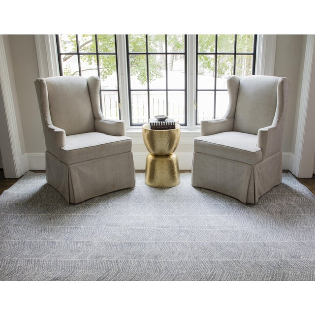 Erin Gates by Momeni Easton Congress Grey Indoor/Outdoor Hand Woven Area Rug - 7′6″ × 9′6″ For Sale In Atlanta - Image 6 of 7