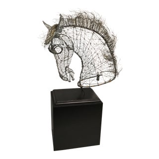Wire Horse Sculpture For Sale