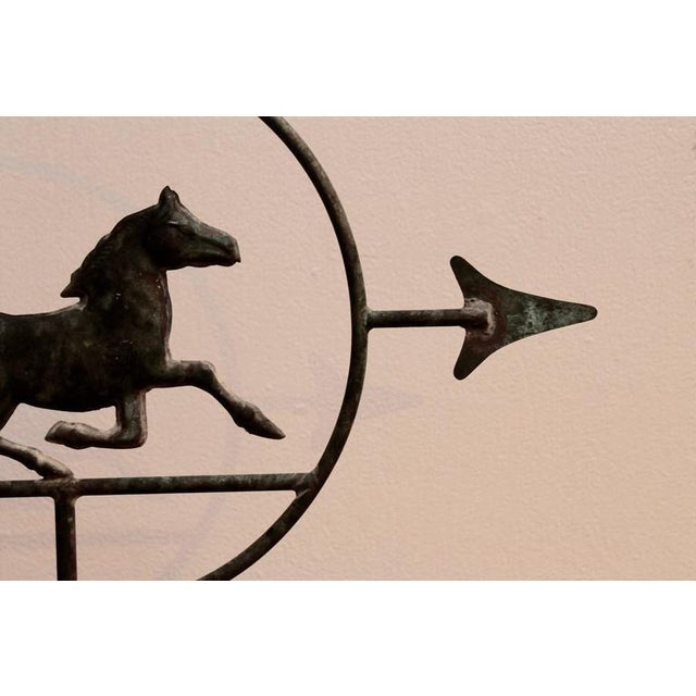 19th Century Running Horse within a Circle Weathervane on Stand - Image 4 of 7