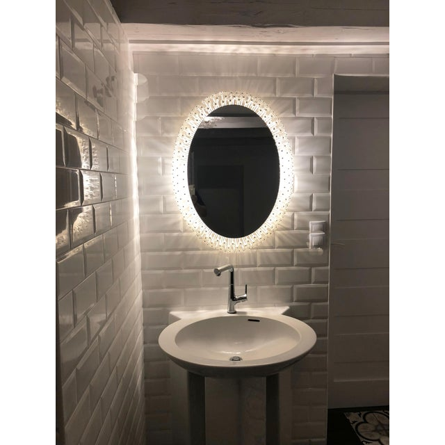 Oval Illuminated Mirror by Emil Stejnar For Sale - Image 6 of 9