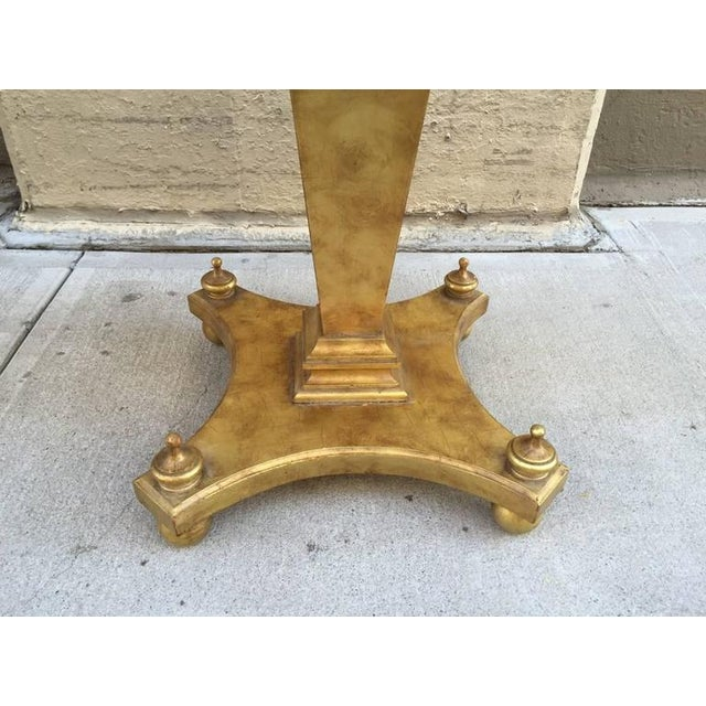 French Gilt Parquetry Rosewood Inlaid Pedestal Table For Sale - Image 3 of 4