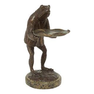 Scarborough House Brass Frog Verdigris Soap Dish For Sale