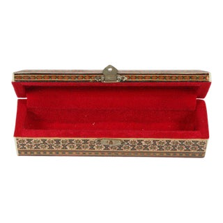 Micro Mosaic Inlaid Trinket Indo Persian Box For Sale