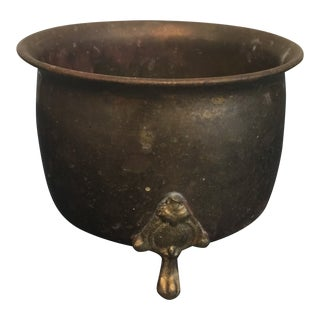 Brass Plant Container For Sale