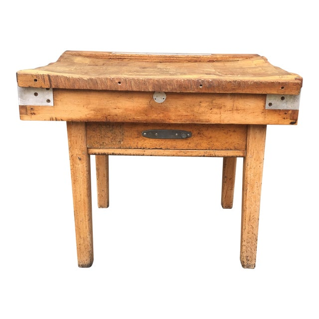 Antique French Butcher's Shop Block - Image 1 of 5
