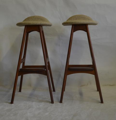 Eric Buch Teak Bar Stools A Pair Chairish