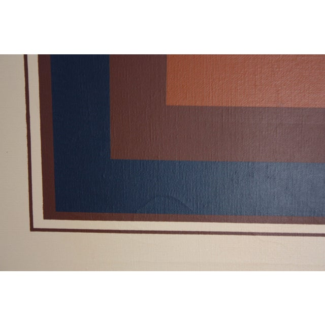 7a6854c954e6 Oil on Canvas Geometric Op Art by Letterman For Sale - Image 9 of 13