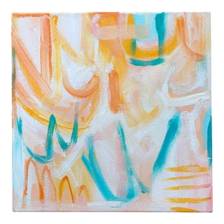 """Christina Longoria """"Lover #1"""" Abstract Painting For Sale"""