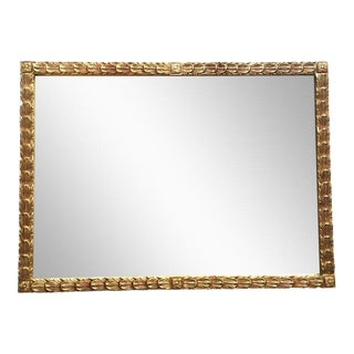 1970s Hollywood Regency Gold Feather Filigree Mirror For Sale