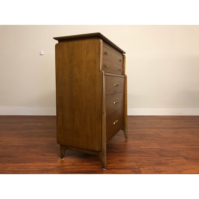 Drexel John Van Koert Drexel Projection 1959 Highboy Dresser For Sale - Image 4 of 12