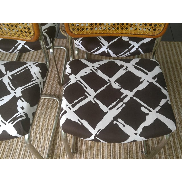 Woven Cesca Style Chairs - Set of 4 - Image 6 of 7